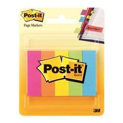 Pg Markers Post It 5 Pads Per Pk Assorted Neon 591 X 1969 By 3M