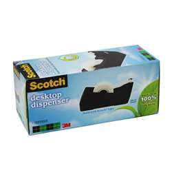 "Dispenser Tape Black Single Roll Max Width 3/4"" By 3M"