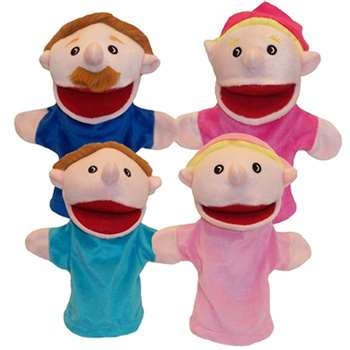 Family Bigmouth Puppets Caucasian Family Of 4 By Get Ready Kids