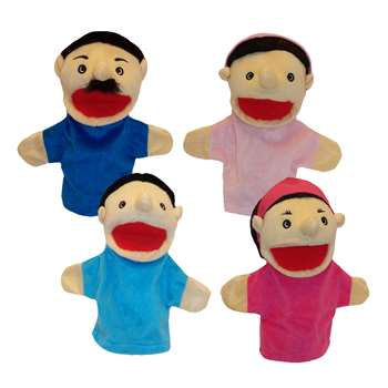 Family Bigmouth Puppets Hispanic Family Of 4 By Get Ready Kids