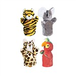 Zoo Puppet Set Ii Includes Elephant Tiger Parrot And Leopard By Get Ready Kids