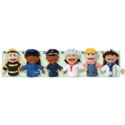 Multi Ethnic Career Puppet 6 Set Of All Career Puppets By Marvel Education