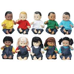 Dolls Multi-Ethnic 10-Doll School Set By Marvel Education