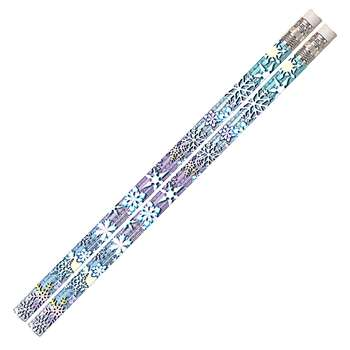 Snowflake Glitters 12Pk Motivational Fun Pencils By Musgrave Pencil