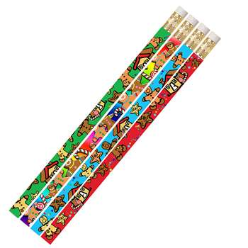 Gingerbread Man & Candyland 12Pk Pencils, MUS1067D