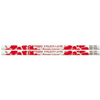 Happy Valentine From Your Teacher 12Pk Motivational Fun Pencils By Musgrave Pencil