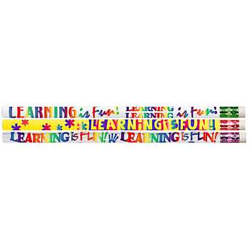 Learning Is Fun 12Pk Motivational Fun Pencils By Musgrave Pencil