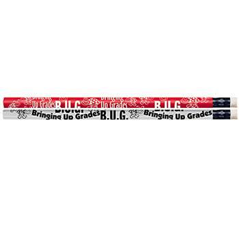 B U G Bringing Up Grades 12Pk Motivational Fun Pencils By Musgrave Pencil