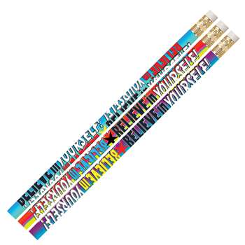 Believe In Yourself Pencil Assortment Pack Of 12 By Musgrave Pencil