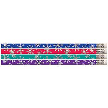 Snowflake Blitz Pencil Assortment Pack Of 12 By Musgrave Pencil