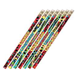 Character Matters 12Pk Motivational Fun Pencils By Musgrave Pencil