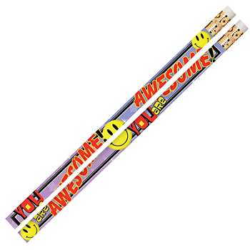 You Are Awesome 12Pk Motivational Fun Pencils By Musgrave Pencil