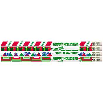12Pk Happy Holidays From Your Teacher Pencils By Musgrave Pencil