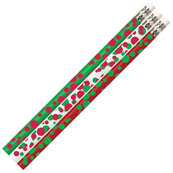 Dots Of Christmas Fun Pencil 12 Pack, MUS2528D