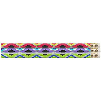 Geometric Glitz Pencils 12Pk, MUS2542D