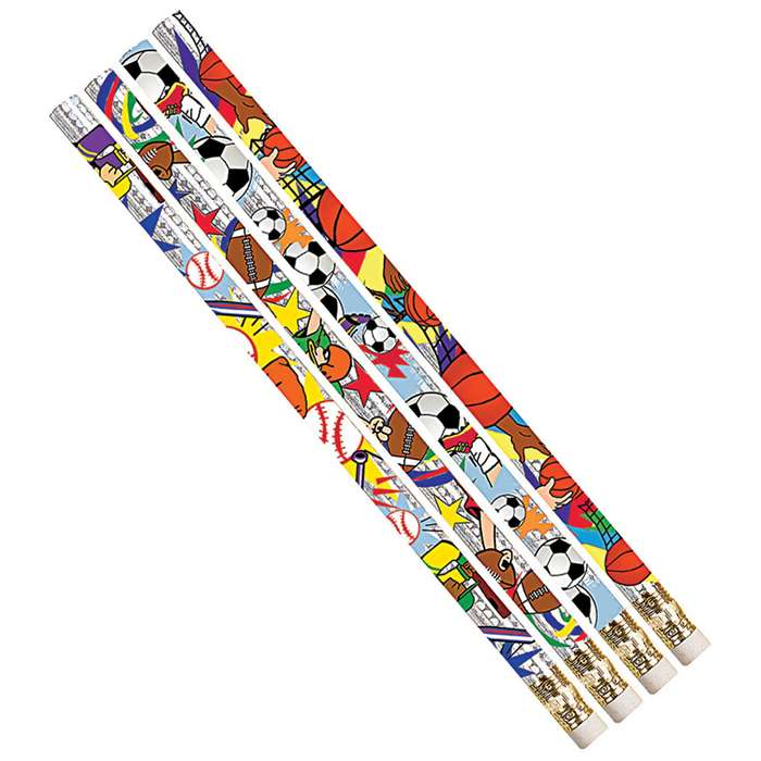 Sport Pizzazz Assortment 12Pk Pencils By Musgrave Pencil