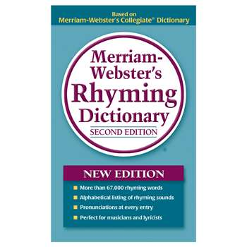 Merriam Webster Rhyming Dictionary Paperback By Merriam-Webster