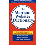 The Merriam Webster Paperback Dictionary 4 3/16 X 6 3/4 By Merriam-Webster