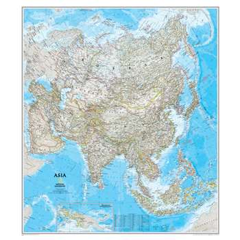 Asia Wall Map 34 X 38 By National Geographic Maps