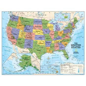 Political Series Usa Map By National Geographic Maps