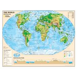 Physical Series World Map By National Geographic Maps