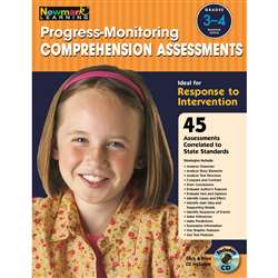 Progress Monitoring Comprehension Assessments Gr 3-4 By Newmark Learning