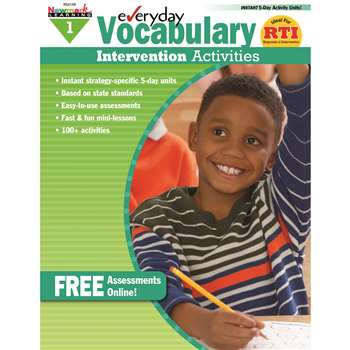 Everyday Vocabulary Gr 1 Intervention Activities By Newmark Learning