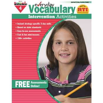 Everyday Vocabulary Gr 4 Intervention Activities By Newmark Learning
