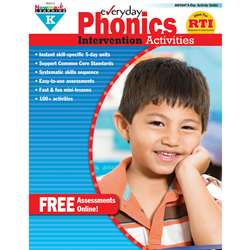 Everyday Phonics Gr K Intervention Activities By Newmark Learning