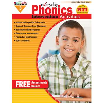 Everyday Phonics Gr 3 Intervention Activities By Newmark Learning