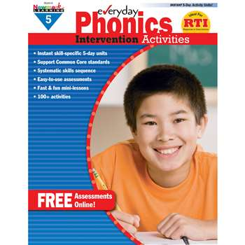 Everyday Phonics Gr 5 Intervention Activities By Newmark Learning