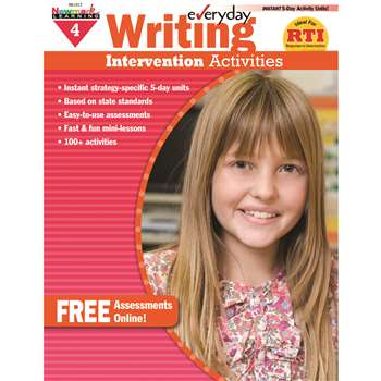 Everyday Writing Gr 4 Intervention Activities By Newmark Learning