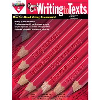 Common Core Writing To Text Book Grade 4 By Newmark Learning