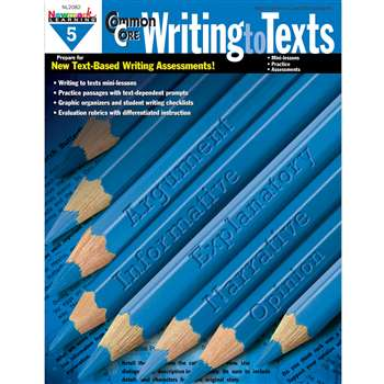 Common Core Writing To Text Book Grade 5 By Newmark Learning