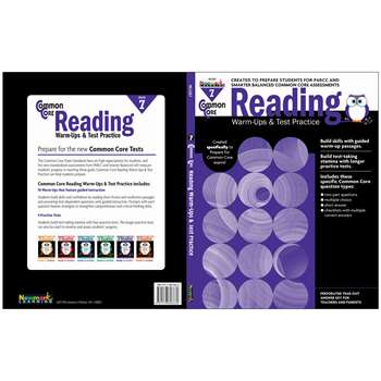 Shop Common Core Reading Gr 7 Warmups & Test Practice - Nl-2267 By Newmark Learning