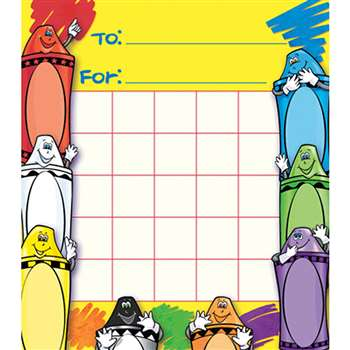Crayons Motivational Charts By North Star Teacher Resource