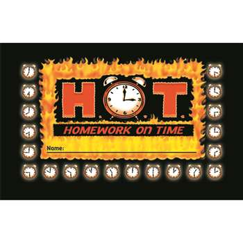 Incentive Punch Cards H O T Homework On Time 36/Pk By North Star Teacher Resource
