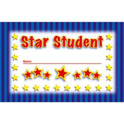Incentive Punch Cards Star Student 36/Pk By North Star Teacher Resource