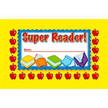 Incentive Punch Cards Super Reader 36/Pk By North Star Teacher Resource
