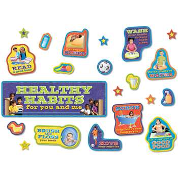 Healthy Habits Bulletin Board Set By North Star Teacher Resource
