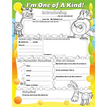 Fill Me In Posters Im One Of A Kind By North Star Teacher Resource