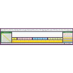 Traditional Cursive Desk Plate 17-1/2 X 4 36Pk By North Star Teacher Resource