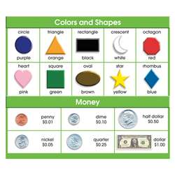 Adhesive Desk Prompts Colors Shapes Money By North Star Teacher Resource