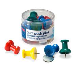 Officemate Giant Push Pins 12/Tub, OIC92902