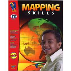 Mapping Skills Grades 4-6 By On The Mark Press