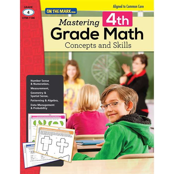 Mastering Fourth Gr Math Concepts & Skills Aligned, OTM1146