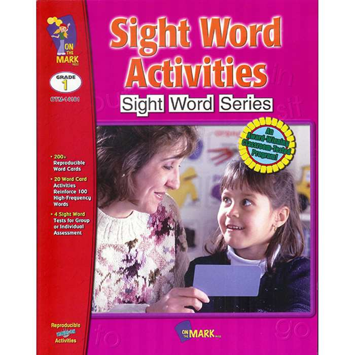 Sight Word Activities By On The Mark Press
