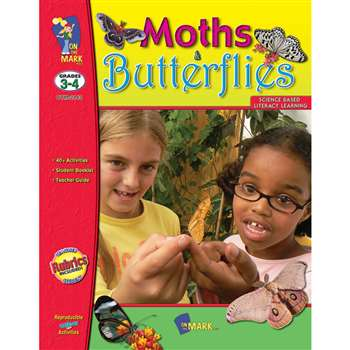 Moths And Butterflies Gr 3-4 By On The Mark Press