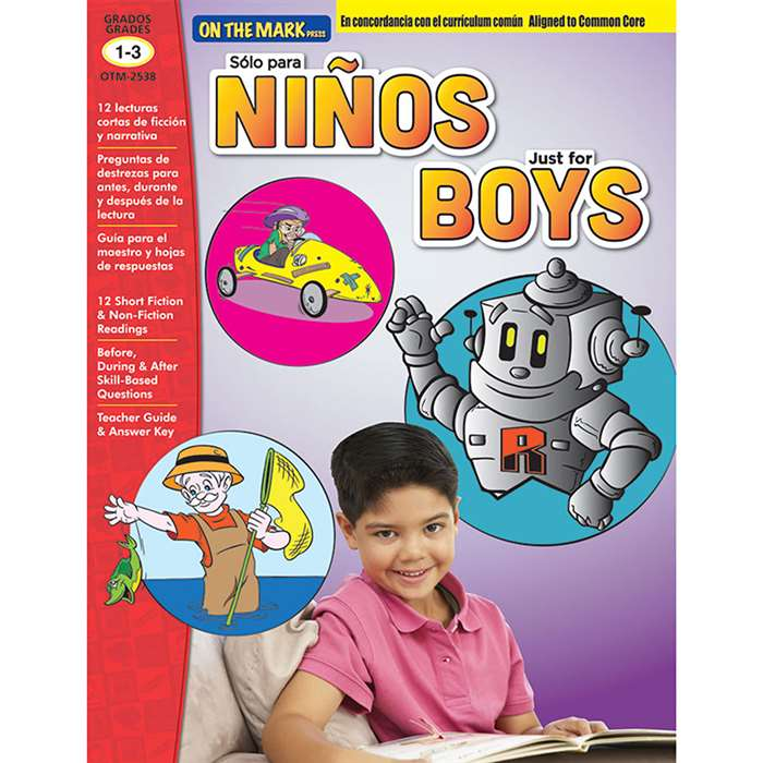 Solo Para Ninosjust For Boys Gr 1-3 Aligned To Com, OTM2538