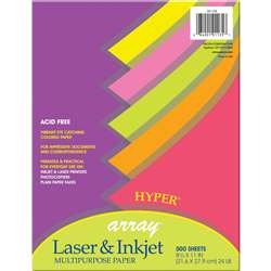 Array Multipurpose 500Sht Hyper Colors 24Lb Paper By Pacon
